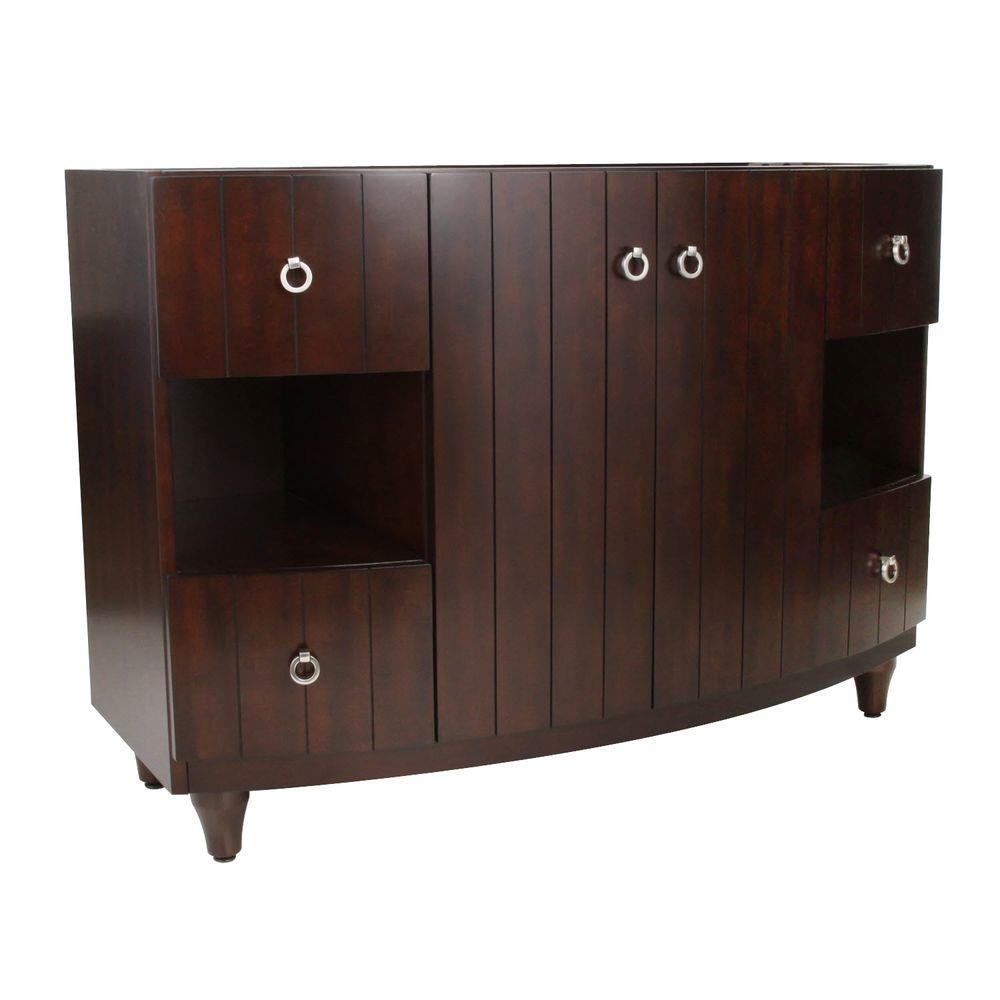 RYVYR Kara 48 in. W x 21 in. D x 34 in. H Vanity Cabinet Only in Dark Espresso