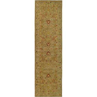 Antiquity Brown/Beige 2 ft. x 18 ft. Runner Rug