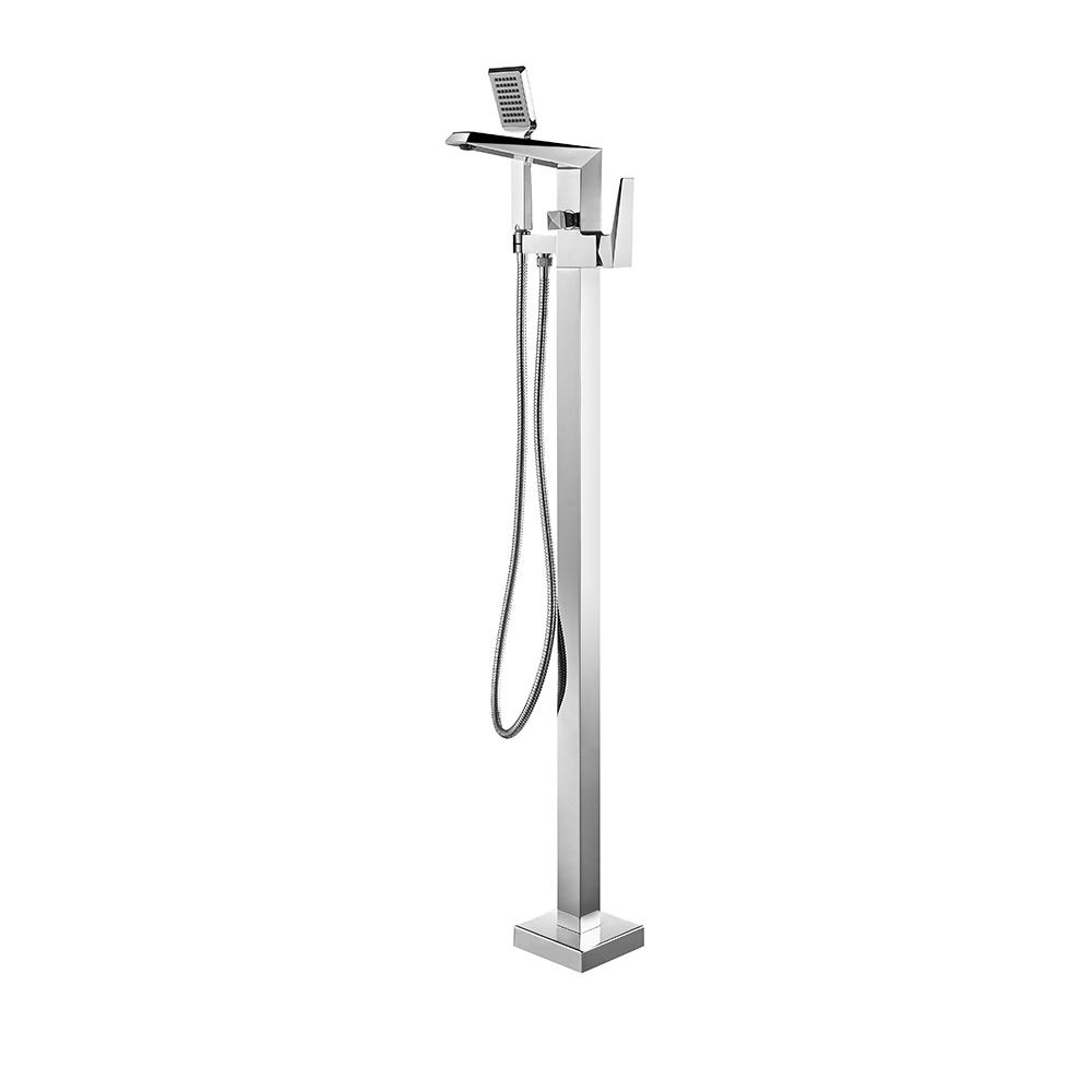 ROSWELL Cypress Single-Handle Freestanding Roman Tub Faucet with Tub Filler in Chrome