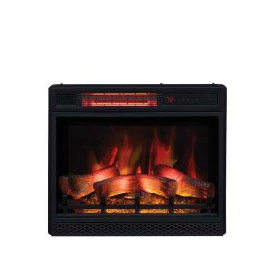 Awesome 23 In Ventless Infrared Electric Fireplace Insert With Safer Plug Download Free Architecture Designs Grimeyleaguecom