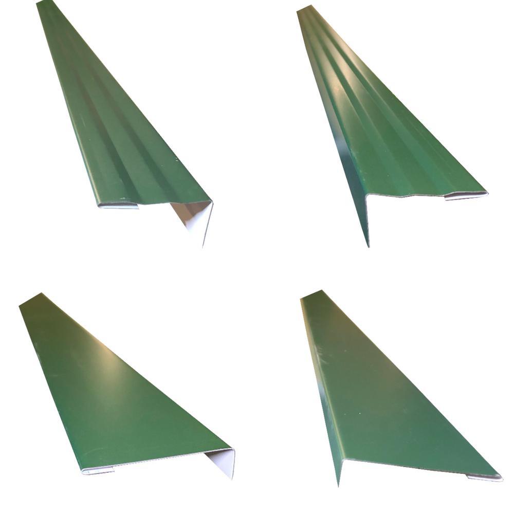 2.5 in.x2.25 in.x85 in. Complete Aluminum Metal Brickmold and Jamb Door Trim Cover Kit-72 in. Door w/Brick, Evergreen