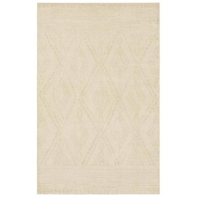 Nomad Vado Linen Ivory 8 ft. x 10 ft. Geometric Area Rug