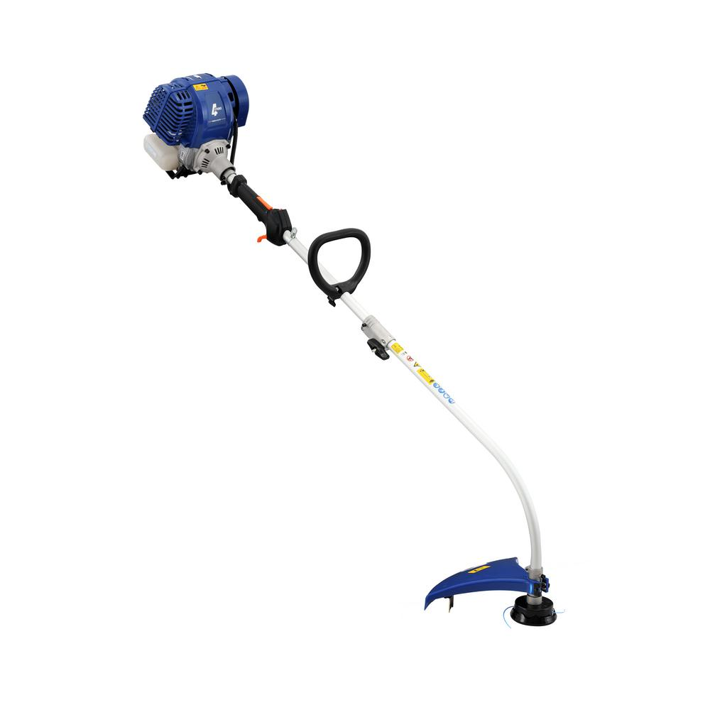 Badger 31 Cc Gas 4 Cycle Curve Shaft Attachment Capable Grass Hand Held Trimmer Wb31gtf The Home Depot