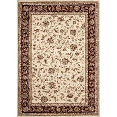 Manor House Ivory Isphahan 5 ft. x 7 ft. Area Rug