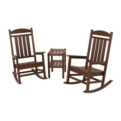 Presidential Mahogany 3-Piece Patio Rocker Set