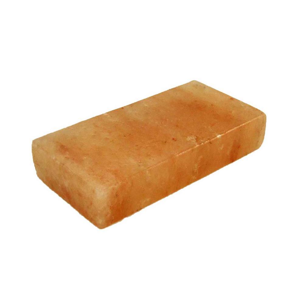 4 in. D x 8 in. W x 1.5 in. H Himalayan Salt Brick