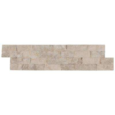 Tiara Beige Splitface Ledger Panel 6 in. x 24 in. Natural Limestone Wall Tile (10 cases/80 sq. ft./pallet)