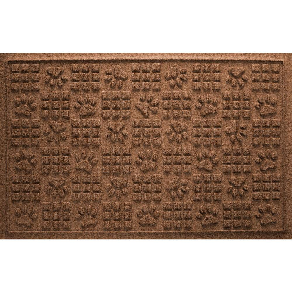 Dark Brown 24 in. x 36 in. Dog Paw Squares Pet