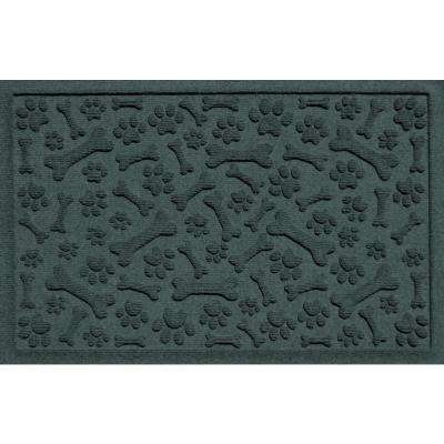 Evergreen 24 in. x 36 in. Paws and Bones Polypropylene Pet Mat