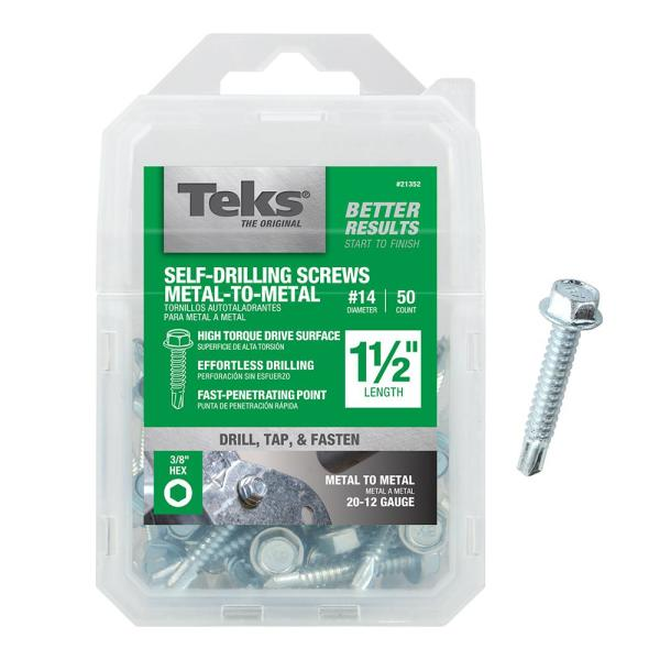 Hex Drive 1//2 Length 1//2 Length Pack of 100 Pack of 100 Small Parts 0808KWS #2 Drill Point #8-18 Thread Size Serrated Hex Washer Head Zinc Plated Finish Steel Self-Drilling Screw