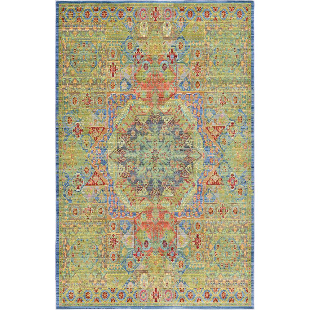 Aria Green 5 ft. x 8 ft. Area Rug