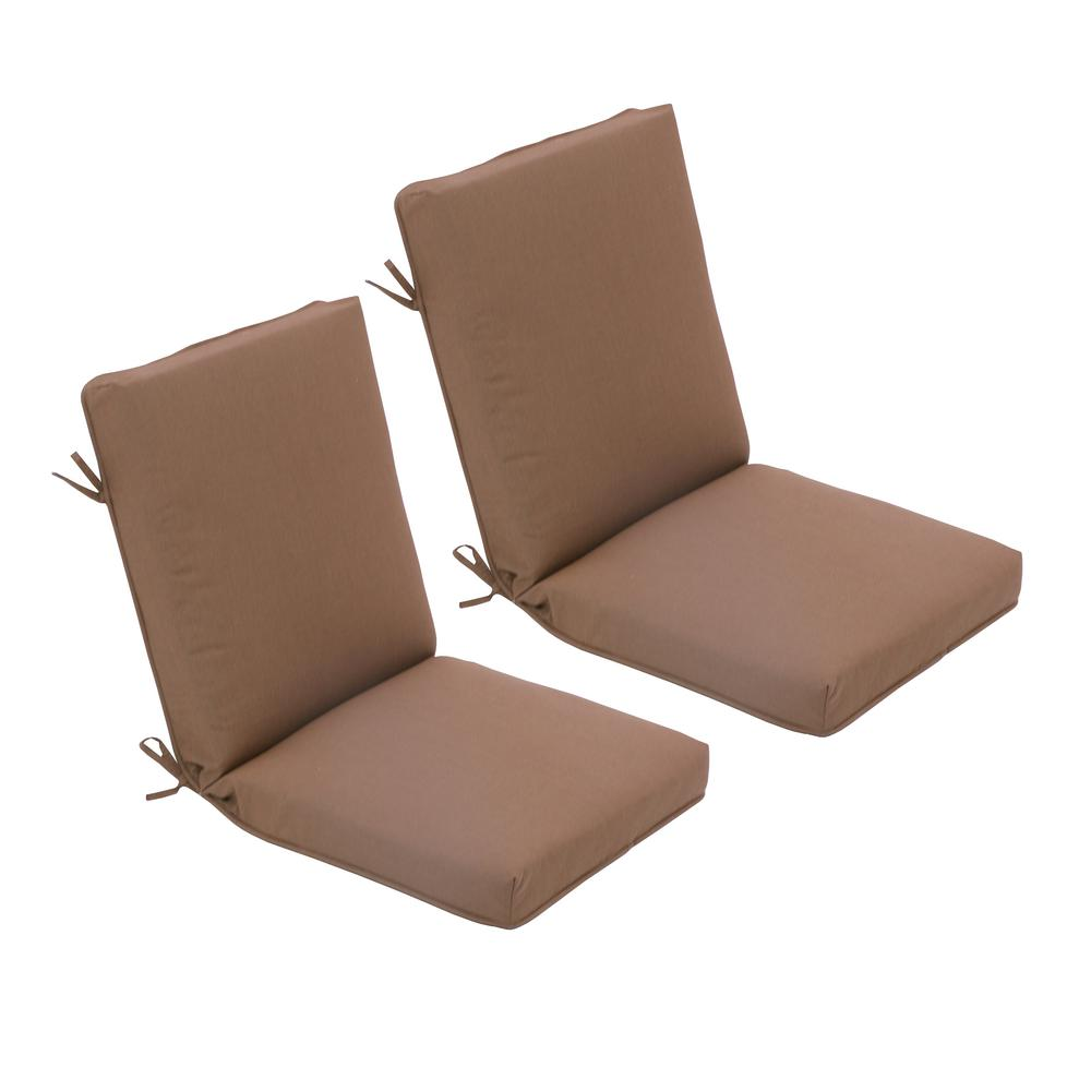 Astonishing Hampton Bay 21 5 In X 23 5 In High Back Outdoor Dining Chair Cushion In Cashew 2 Pack Download Free Architecture Designs Ogrambritishbridgeorg