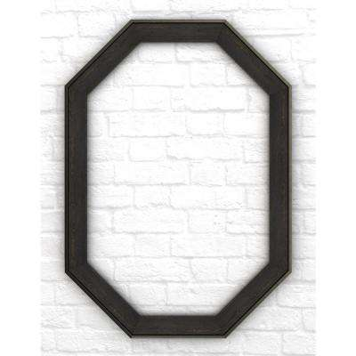 33 in. x 46 in. L3 Octagonal Mirror Frame in Weathered Wood