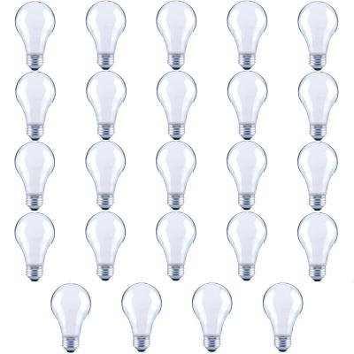 60-Watt Equivalent A19 Frosted Glass Vintage Decorative Edison Filament Dimmable LED Light Bulb Soft White (24-Pack)