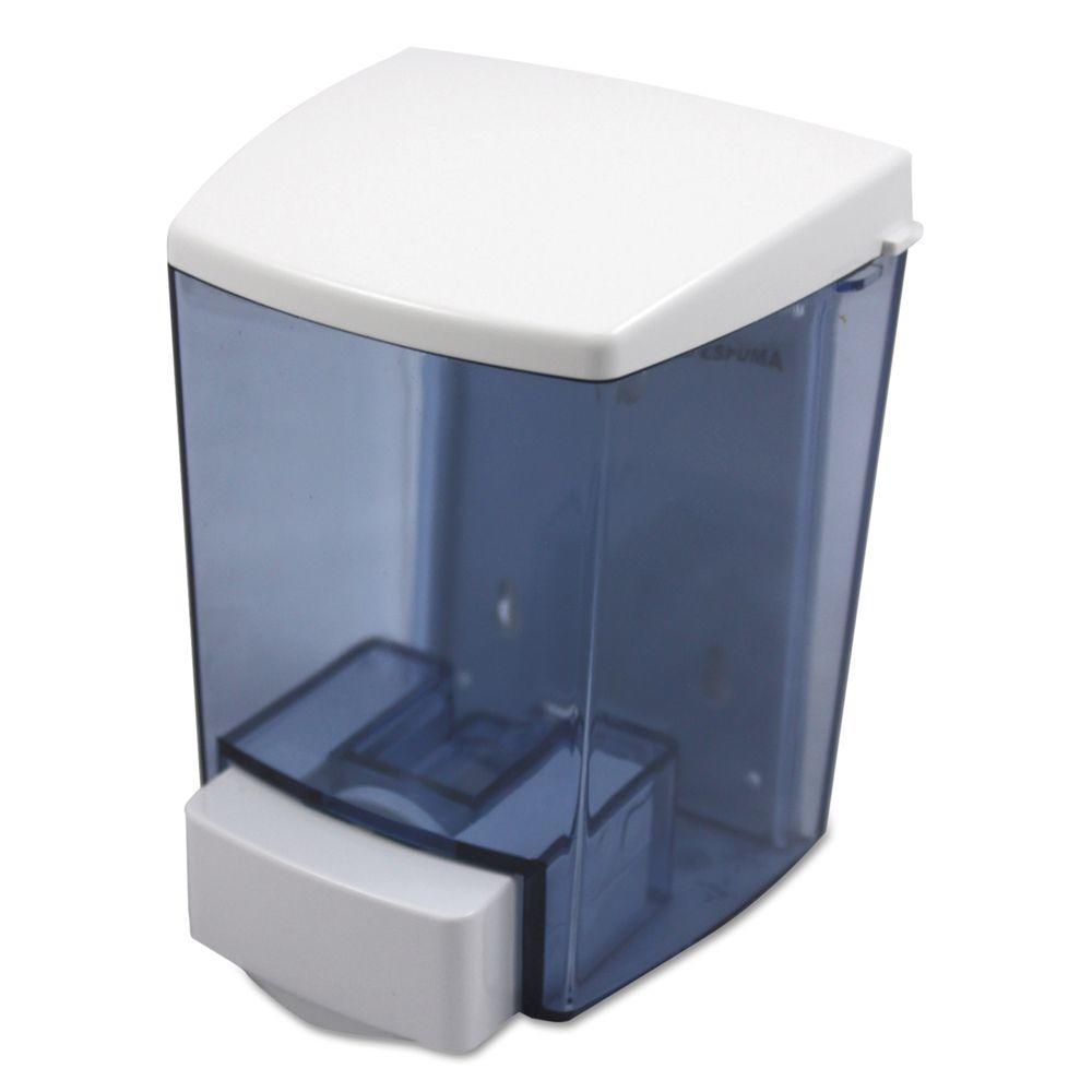 IMPACT 30-oz. ClearVu Liquid Soap Dispenser in Black/White