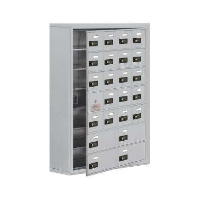 19100 Series 30.5 in. W x 42 in. H x 9.25 in. D 23 Doors Cell Phone Locker Surface Mount Resettable Lock in Aluminum