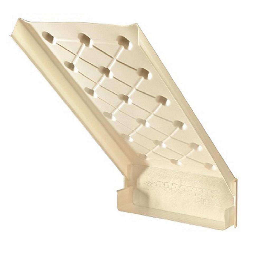 ADO Products Durovent 23-1/2 in. x 46 in. Rafter Vent with Built-In Baffle 10/Ctn