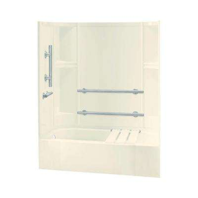 Accord 30 in. x 60 in. x 72 in. Bath and Shower Kit in Biscuit