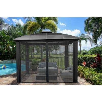 Paragon 12 ft. x 12 ft. Hard Top Gazebo with Sliding Screen
