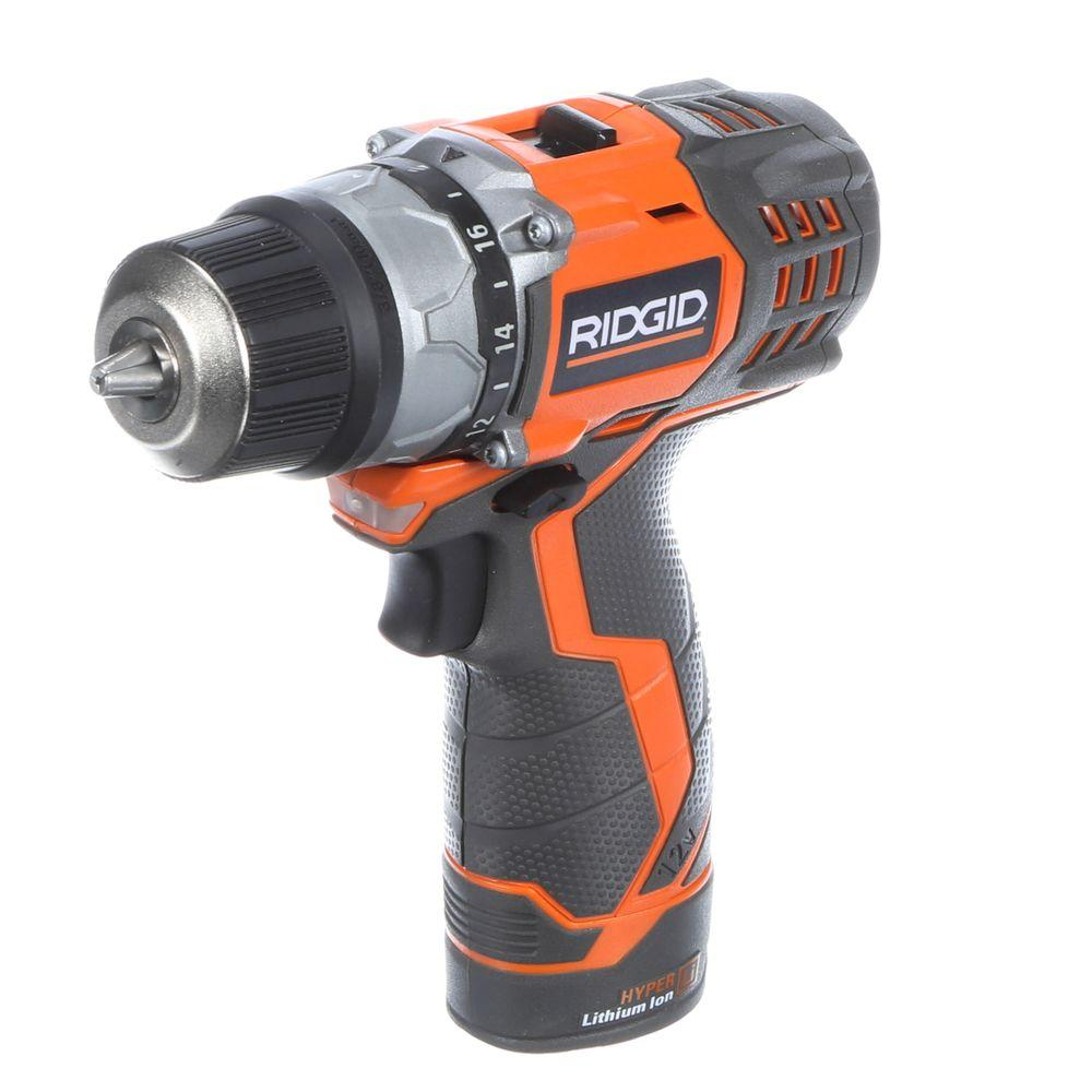 RIDGID Fuego 12-Volt 3/8 in. Cordless Hyper Lithium-Ion 2-Speed Drill/Driver Kit