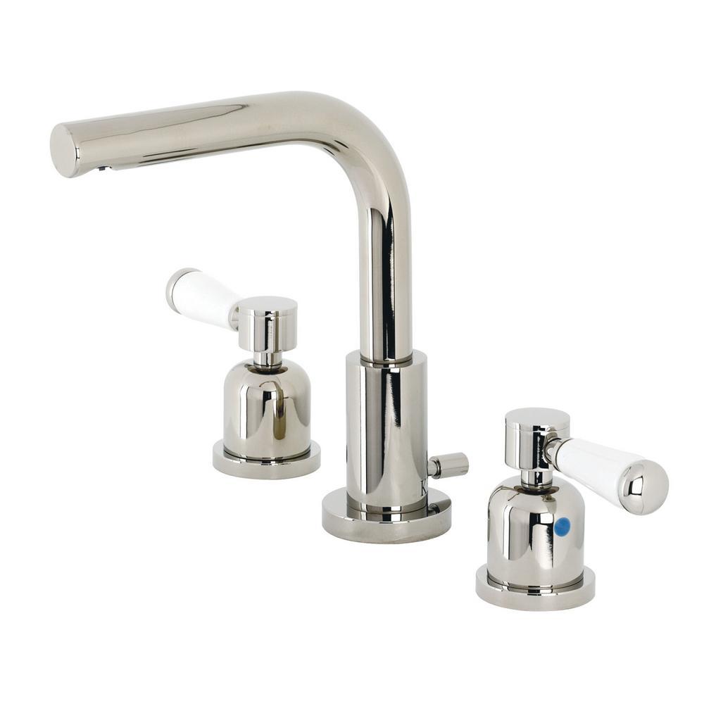 Paris 8 in. Widespread 2-Handle Bathroom Faucet in Polished Nickel