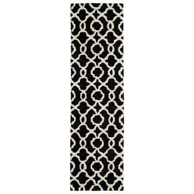 Metamorphosis Black 2 ft. x 8 ft. Runner Rug
