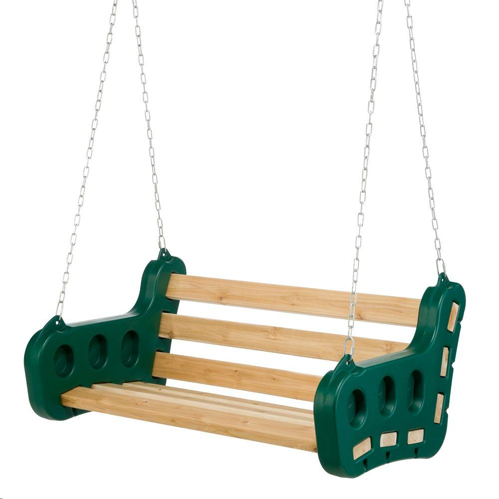 Playstar Contoured Leisure Swing, Greens