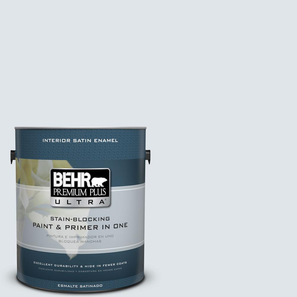 BEHR Premium Plus Ultra 1-gal. #BL-W2 Ice Sculpture Satin Enamel Interior Paint