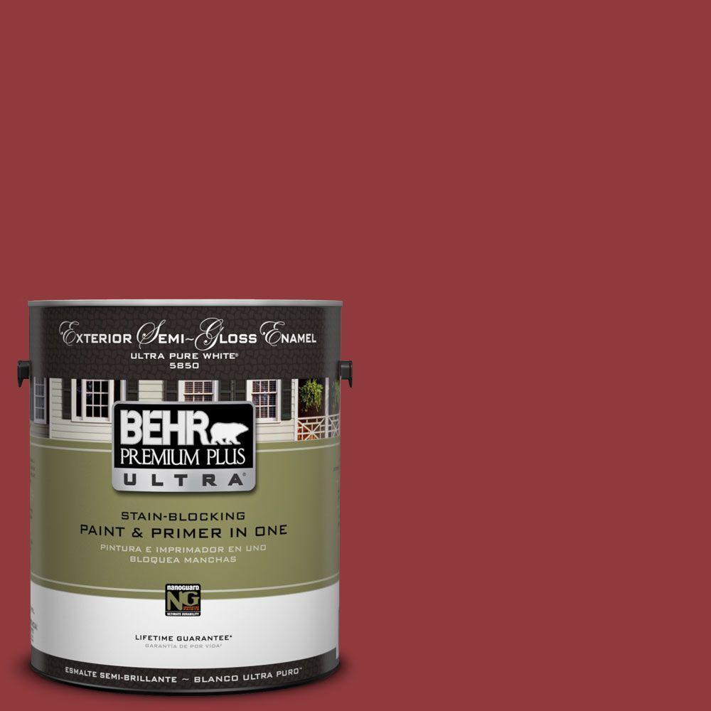 1-Gal. #UL110-18 Cherry Tart Semi-Gloss Enamel Exterior Paint