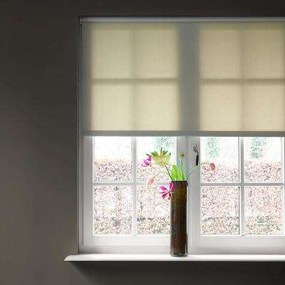 Cut-to-Size Sand Cordless Light Filtering Fabric Roller Shade - 23 in. W x 72 in. L