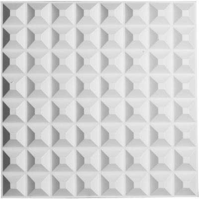 5/8 in. x 19-5/8 in. x 19-5/8 in. PVC White Bradford EnduraWall Decorative 3D Wall Panel
