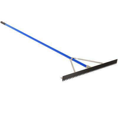 36 in. Base/Lute Rake with 8 ft. Aluminum Handle