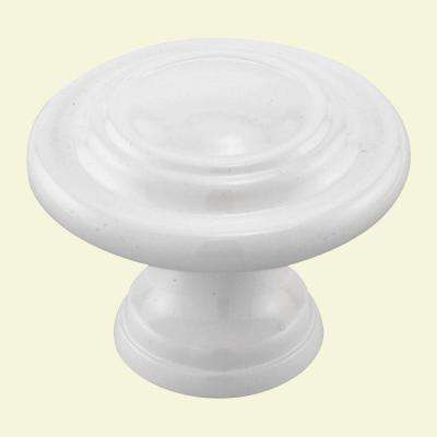 1-11/16 in. White Plated Bi-Fold Door Knob