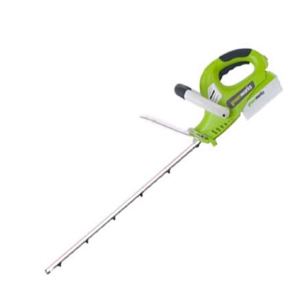 Green Works 22 in. 18-Volt Electric Cordless Hedge Trimmer-DISCONTINUED