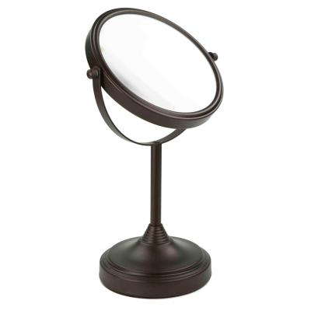 Elizabeth Collection 5.25 in. x 13.5 in. Bi-View Cosmetic Mirror in Bronze
