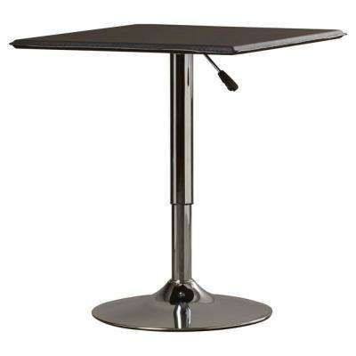Black Adjustable Swivel Pub/Bar Table