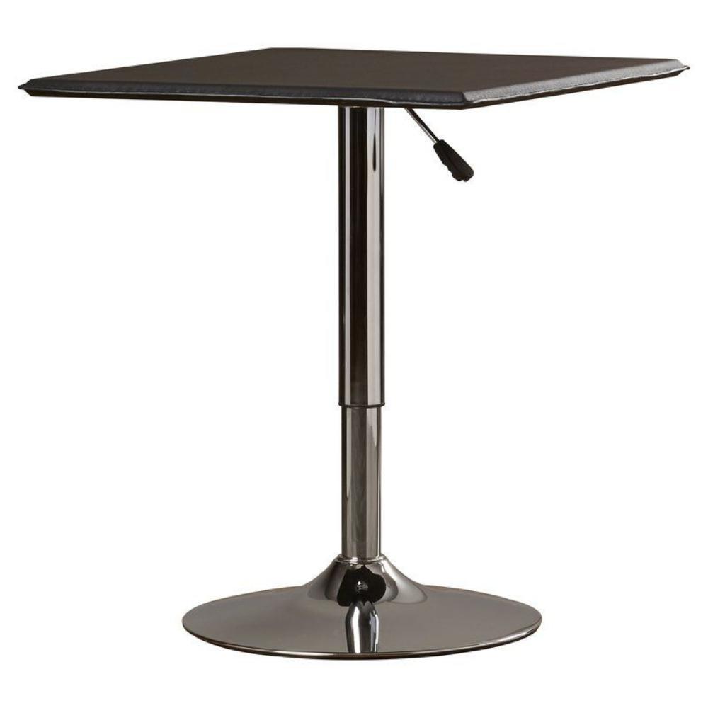 AmeriHome Black Adjustable Swivel Pub/Bar Table ATABLESQ