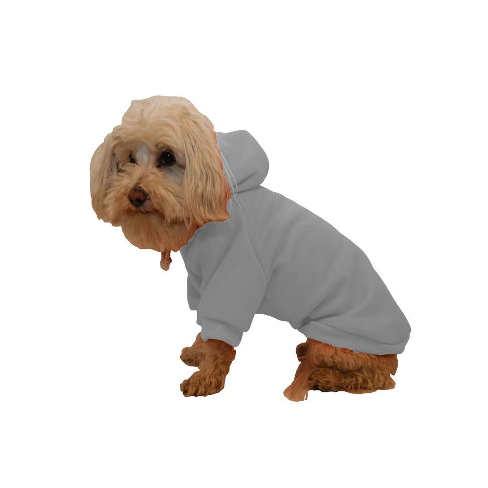 PET LIFE Small Grey Fashion Ultra-Soft Cotton Pet Dog Hoodie Hooded