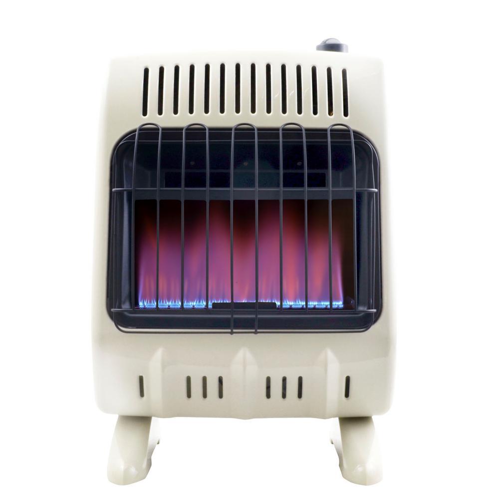 10,000 BTU Vent Free Blue Flame Propane Heater