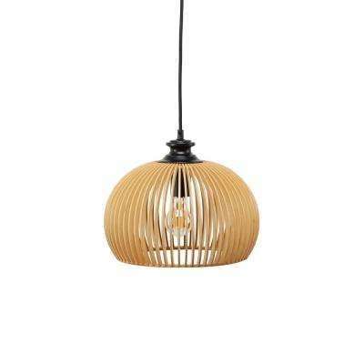Briely Wood Cage Integrated LED Pendant