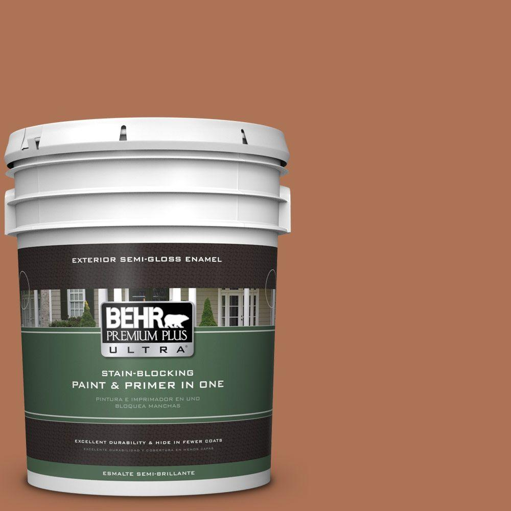 BEHR Premium Plus Ultra 5-gal. #PPU3-15 Glazed Pot Semi-Gloss Enamel Exterior Paint