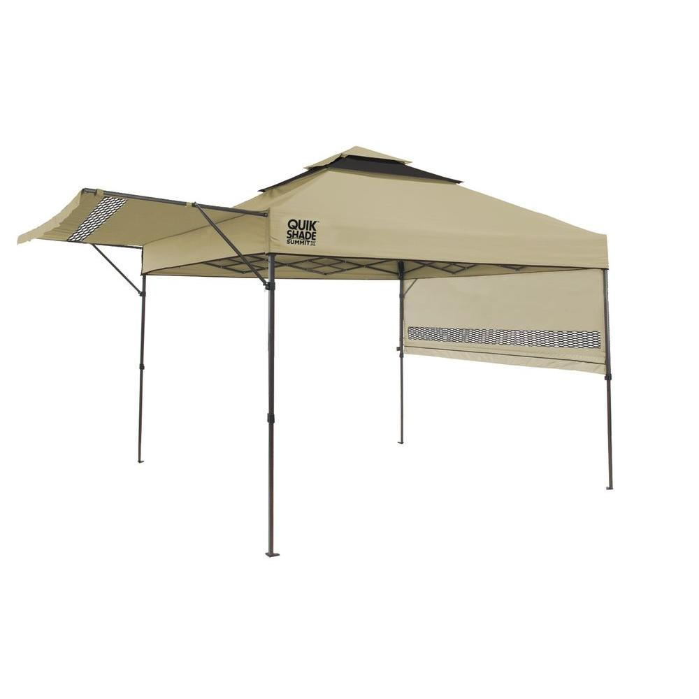 Quik Shade Summit 10 ft. x 17 ft. Instant Canopy in Taupe  sc 1 st  The Home Depot : shade tech 10x10 instant canopy - memphite.com