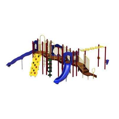 UPlay Today Slide Mountain (Playful) Commercial Playset with Ground Spike