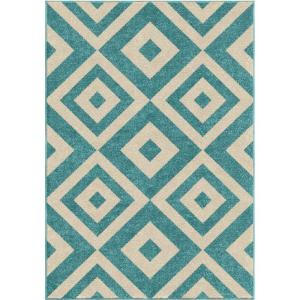 Orian Rugs New River Light Blue 3 ft. 10 inch x 5 ft. 2 inch Indoor Accent Rug by Orian Rugs