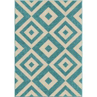 New River Light Blue 3 ft. 10 in. x 5 ft. 2 in. Indoor Accent Rug