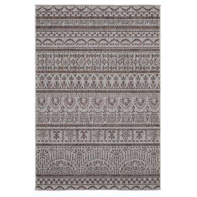 Augusta Diani Brown 7 ft. 10 in. x 10 ft. 6 in. Indoor/Outdoor Area Rug