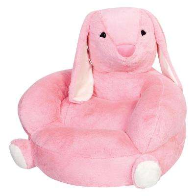 Pink Children's Plush Bunny Character Chair