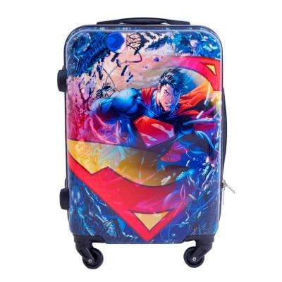 "Superman 21"" Inch Spinner Rolling Luggage Suitcase, Upright ABS Plastic Hard Cases"