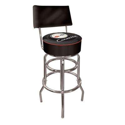 Corvette C1 30 in. Chrome Swivel Cushioned Bar Stool
