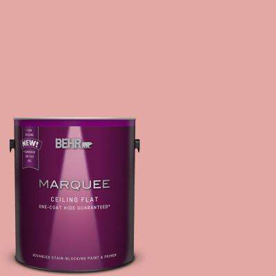 1 gal. #MQ4-03 Tinted to Coral Fountain One-Coat Hide Flat Interior Ceiling Paint and Primer in One
